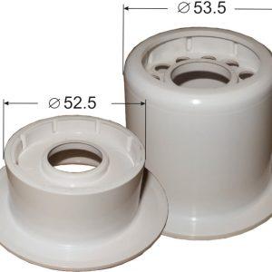 Устройство для углубленного монтажа спринклерных оросителей с удлиненным патроном (L46 мм) цвет - белый, с металлическим держателем (для оросителей Бриз-12/К16, Бриз-12/К23, Бриз-16/К23)