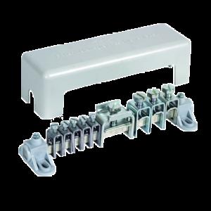 Шина уравнивания потенциалов с винтовыми миниклеммами, исполнение Mini, 6x2,5 - 16 кв.мм Ms/gal Sn