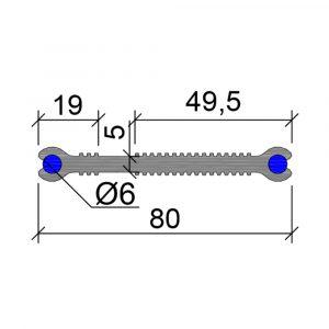 Гидрошпонка-ХВН-80-(2хØ6)-ПВХ - фото, чертеж