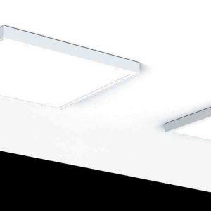 Аварийный светодиодный светильник «ВАРТОН» медицинский накладной 595*595*55мм (C070/N) с опаловым рассеивателем 54 Вт 6500К IP54