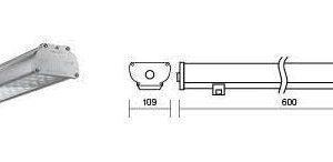 Светильник LED «ВАРТОН» Iron Lens 1215*109*66мм с углом рассеивания 45° IP67 54 Вт 4000К