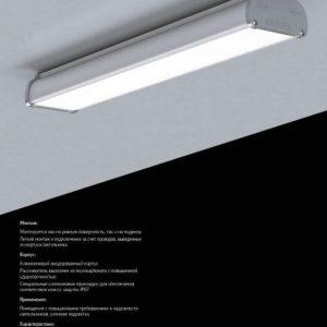 Светодиодный светильник «ВАРТОН» Айрон пром для агрессивных сред 600*109*66 мм класс защиты IP67 микропризма 18 ВТ 6500К