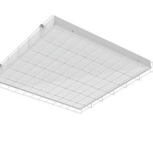 Светодиодный светильник «ВАРТОН» спортивный накладной 595*620*65мм 54 ВТ 6500К с защитной сеткой