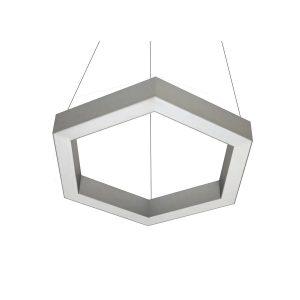 Дизайнерский подвесной светодиодный профильный светильник Hexago 02 Profile