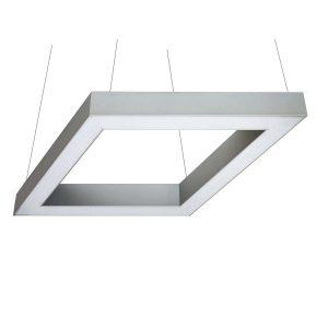 Дизайнерский подвесной светодиодный профильный светильник Romb Profile