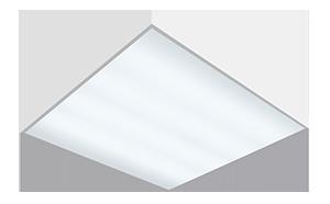 Светодиодный светильник 'Varton' A070 офисный встраиваемый/накладной 595*595*50мм 54 ВТ с функцией аварийного освещения