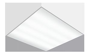 Светодиодный светильник 'ВАРТОН' A070 офисный встраиваемый/накладной 595*595*50мм 36 ВТ с функцией аварийного освещения