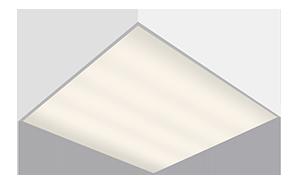 Светодиодный светильник 'ВАРТОН' офисный встраиваемый/накладной 595*595*50мм 54 ВТ 3000К/4000/6500 диммер DALI
