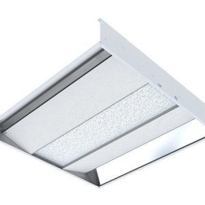 Светодиодный светильник 'ВАРТОН' офисный встраиваемый отраженного света колотый лед 595*595*100мм 36 ВТ 4000К диммер DALI
