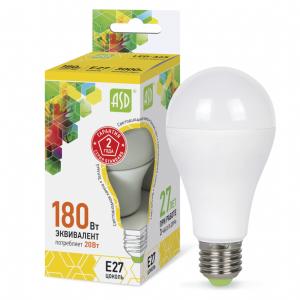 Лампа светодиодная LED-A60-standard 20Вт 230В Е27 4000К 1800Лм ASD