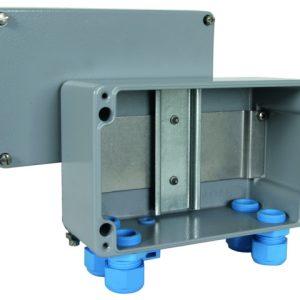 Алюминиевый корпус IP 65 для установки устройств на DIN-рейку 5 модулей во взрывоопасных зонах