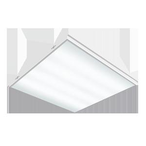 Светодиодный светильник «ВАРТОН» грильято накладной 585*585*65мм 36 ВТ 6500К