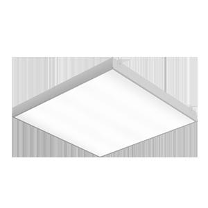 Светодиодный светильник «ВАРТОН» грильято накладной 588*588*50мм 36 ВТ 6500К с планками для подвеса