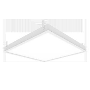 Светодиодный светильник «ВАРТОН» грильято подвесной 588*588*50мм 36 ВТ 6500К с планками для подвеса С РАМКОЙ
