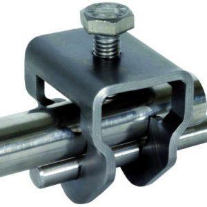 Болтовая контактная клемма для стержней глубинного заземлителя, St/tZn, D=20 мм