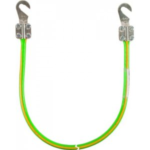 Заземляющий кабель с двумя открытыми наконечниками М8/М10 16мм² L=0,55м желто-зелёный