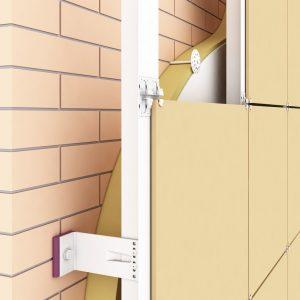 Крепление подсистемы вентилируемых фасадов