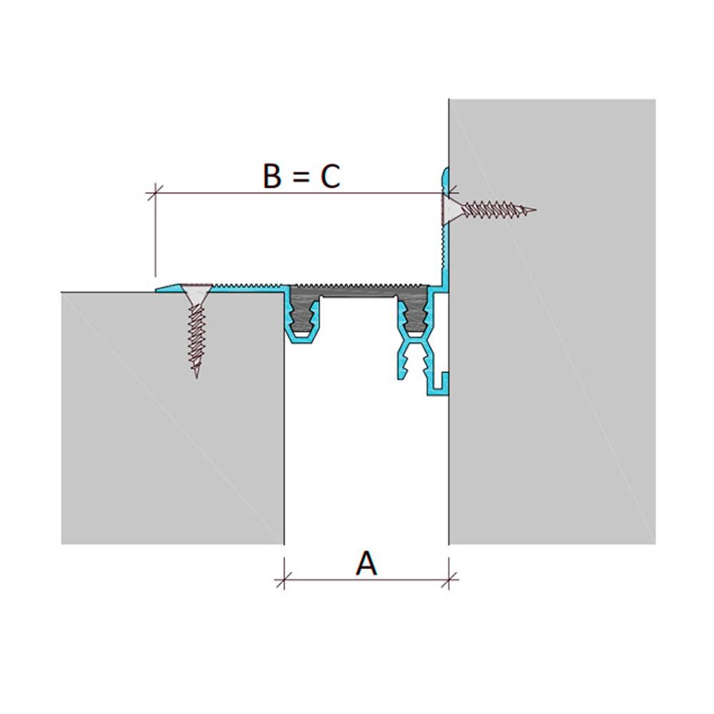Профиль для деформационного шва без нагрузки Аквастоп тип ДГК-0-УГЛ/125