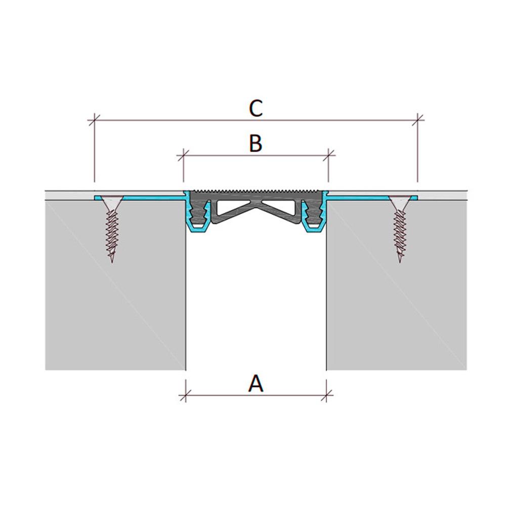 Закладной профиль для деформационного шва без нагрузки Аквастоп тип ДГК-2/120