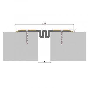 Накладной профиль для деформационного шва ДПС-0/050 ПС1-215/050 ПН-81-СН (гидроизоляционный)