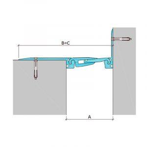 Накладной профиль для деформационного шва ДША.ТC-0-УГЛ/255