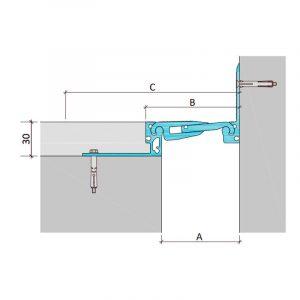 Закладной профиль для деформационного шва ДША.Т-30-УГЛ.2/070