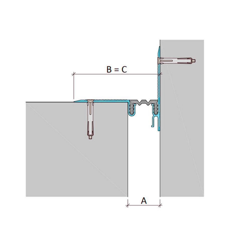 Накладной профиль для деформационного шва ДШЛ-0-УГЛ/040