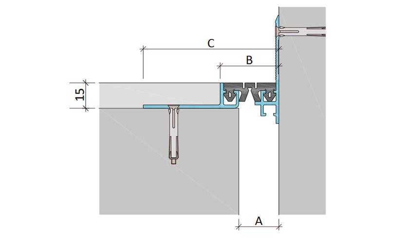 Закладной профиль для деформационного шва ДШМ-15-УГЛ/040 В2-049