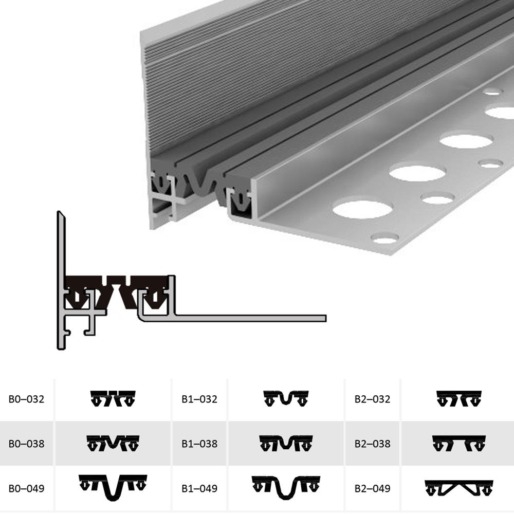 Закладной профиль для деформационного шва ДШМ-15-УГЛ/030 В1-038