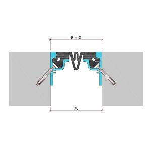 Закладной профиль для деформационного шва ДШН-30-УГЛ/060