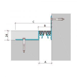 Накладной профиль для деформационного шва ДШО-24-УГЛ/070 В0-068
