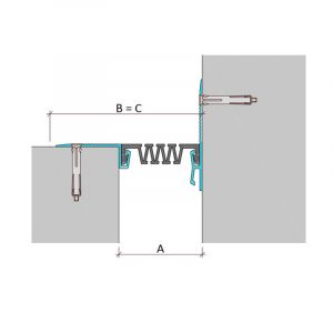 Накладной профиль для деформационного шва ДШС-0-УГЛ/100 C2-100