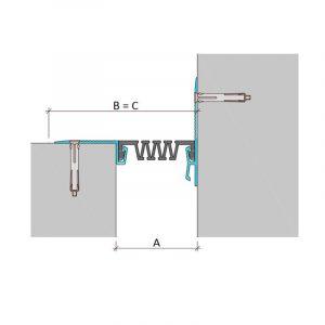 Накладной профиль для деформационного шва ДШС-0-УГЛ/200