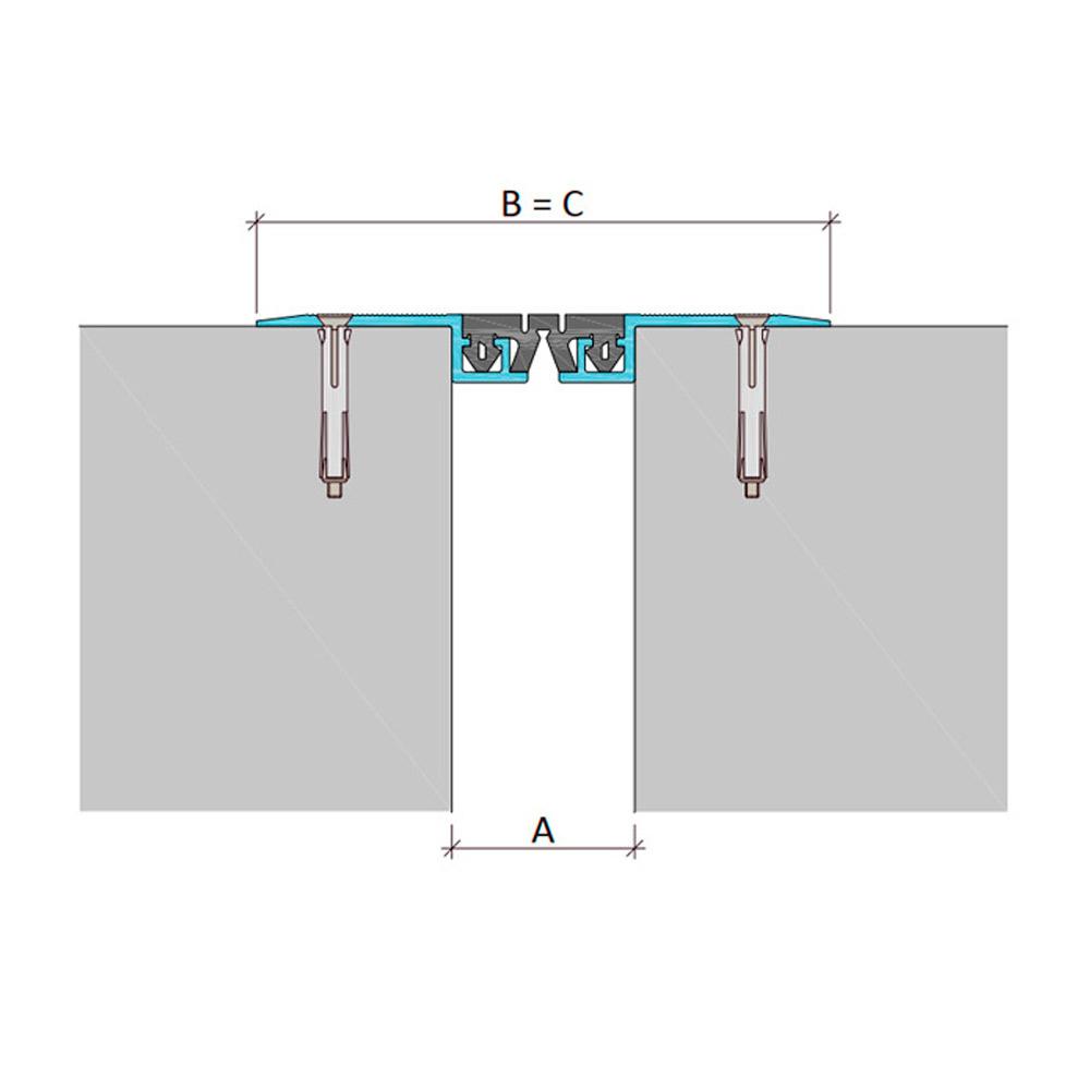 Накладной профиль для деформационного шва ДШВ-0-УГЛ/070 В0-068