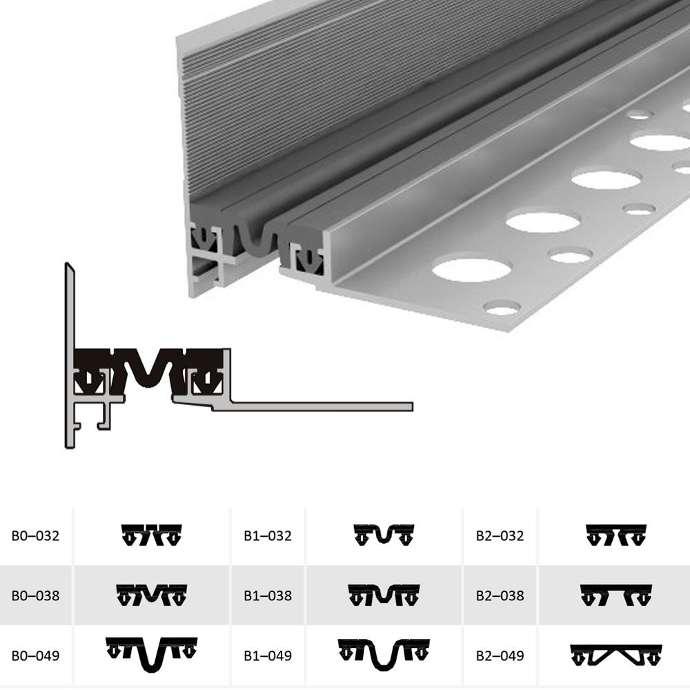 Закладной профиль для деформационного шва ДШВ-20-УГЛ/035 В0-038