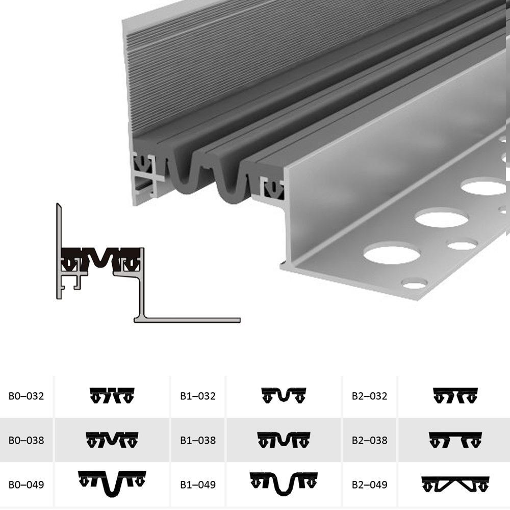 Закладной профиль для деформационного шва ДШВ-35-УГЛ/055 В0-060
