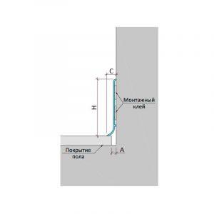 Накладной декаративный профиль для деформационного шва ПЛ-60