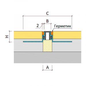 Закладной профиль для деформационного шва ТПМ-14/012