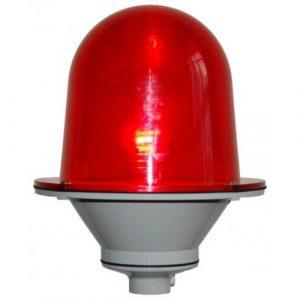 Заградительный огонь малой интенсивности «ЗОМ-48LED-АВ» >32cd тип «Б» 30-265V AC/DC IP65  Антивандальный