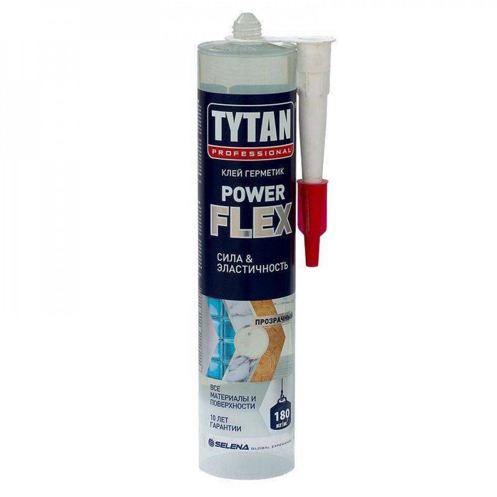 Монтажный клей TYTAN Professional Power flex прозрачный 290 мл (6шт)
