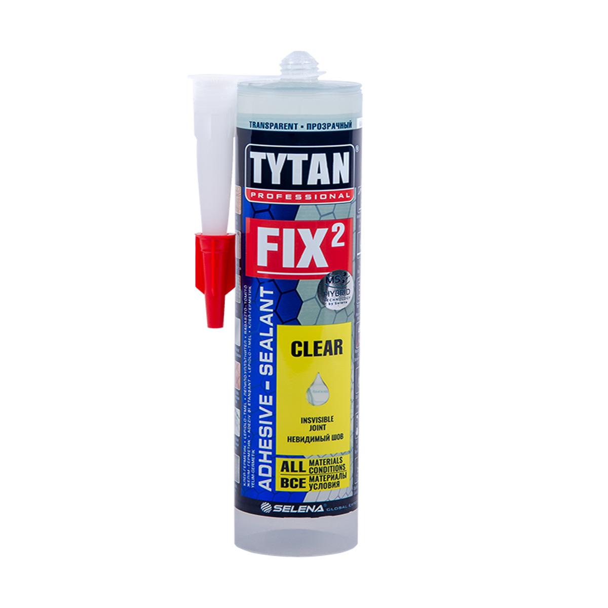 Клей-герметик TYTAN Professional Fix² Clear, 290 мл
