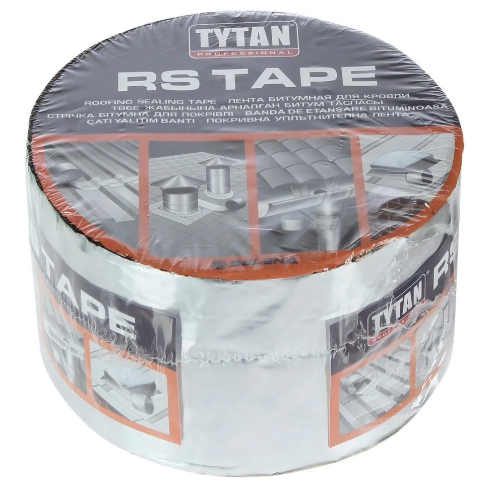 Лента битумная для кровли TYTAN Professional RS TAPE 15см x 10м коричневый