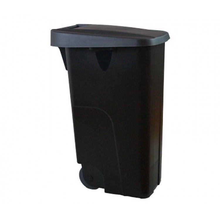 Бак для мусора на колесах 110 л. Denox (Черный)