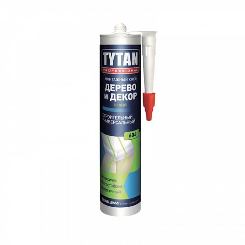 Монтажный клей TYTAN Professional Дерево и Декор 604 290 мл белый