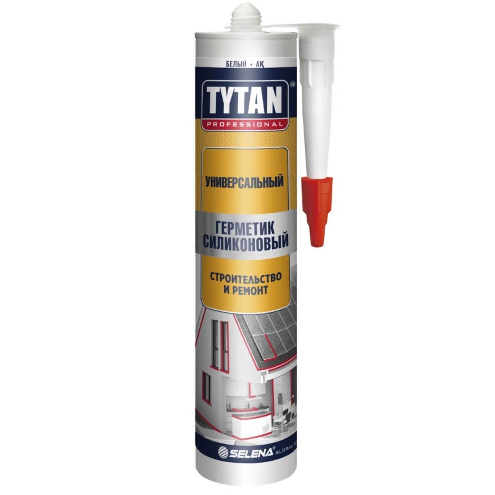 Герметик TYTAN Professional силиконовый Универсальный белый, 280 мл