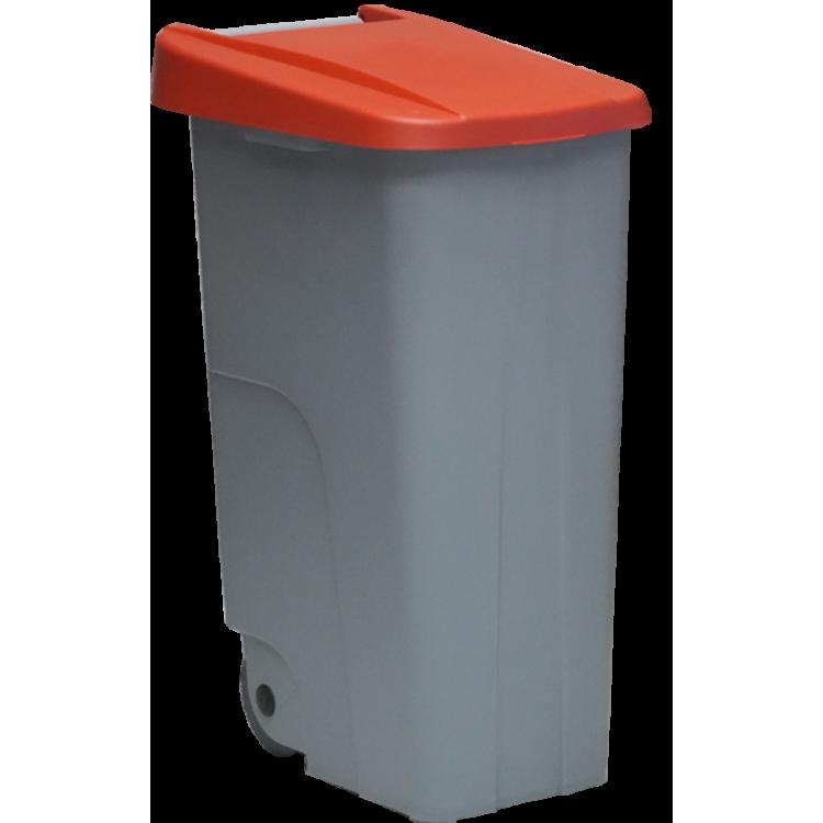 Бак для мусора на колесах 110 л. Denox (Красный)