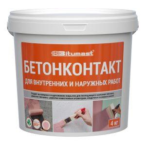 Адгезионный грунт Bitumast «Бетонконтакт» 20 кг-15л