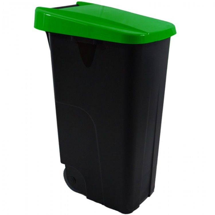 Бак для мусора на колесах 110 л. Denox (Зеленый)