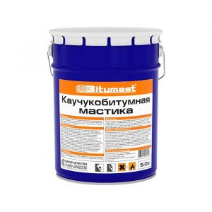 Мастика Bitumast каучукобитумная 52 л / 47 кг