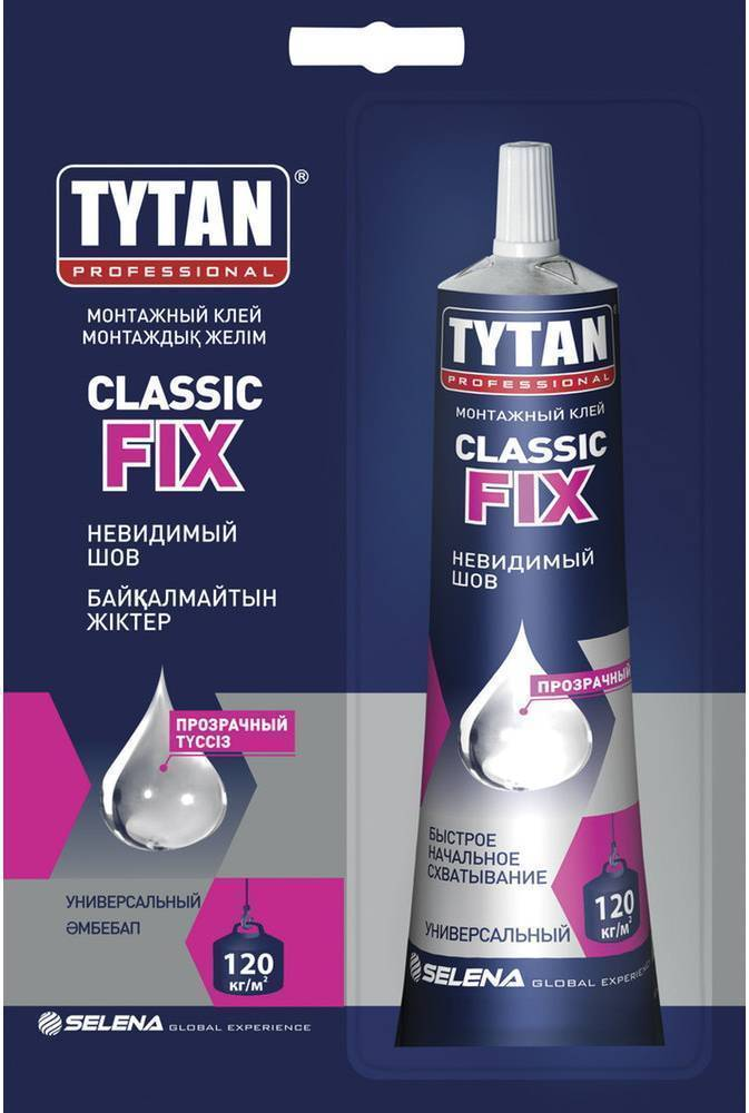 Монтажный клей TYTAN Professional Classic Fix 100 мл прозрачный